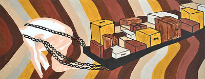 Art Print featuring the painting Baggage by Erika Chamberlin