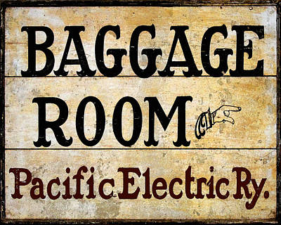 Photograph - Baggage Room by Timothy Bulone
