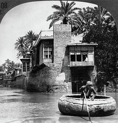 Iraq Painting - Baghdad Tigris, C1914 by Granger