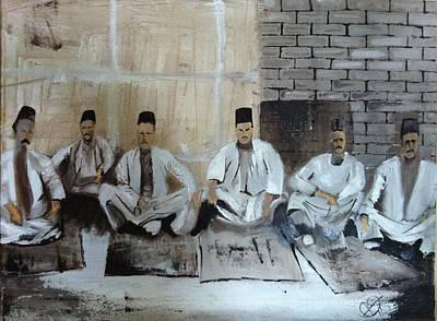 Painting - Baghdadi Jews 1920's by Rami Besancon