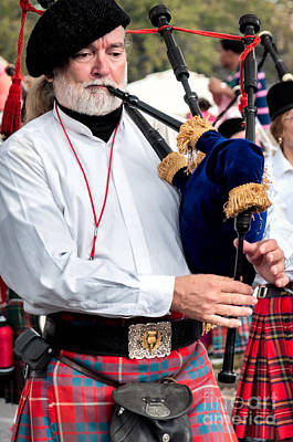 Photograph - Bagpipe Player by Kathleen K Parker