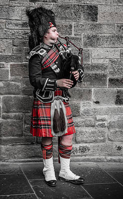 Photograph - Bagpiper by Matthew Onheiber