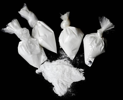 Bags Of Cocaine Art Print by Public Health England