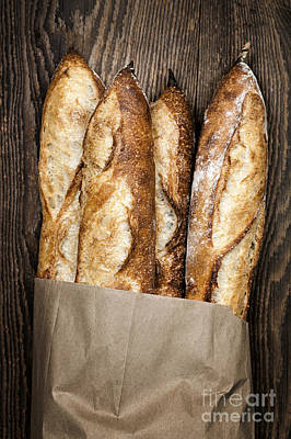 Freshly Photograph - Baguettes  by Elena Elisseeva