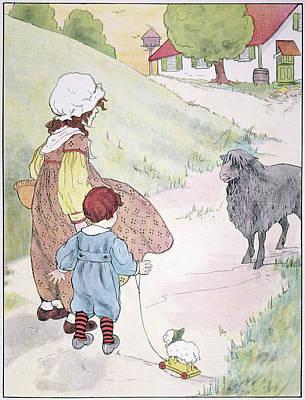 Bah Bah Black Sheep, 1916 Print by Granger
