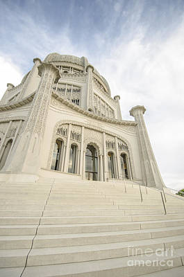Photograph - Baha'i House Of Worship Entrance Wilmette Illinois by Deborah Smolinske