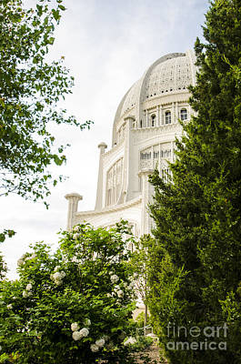Photograph - Baha'i House Of Worship In Spring Wilmette Illinois by Deborah Smolinske