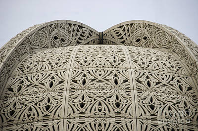 Photograph - Baha'i House Of Worship Roof Detail Wilmette Illinois by Deborah Smolinske