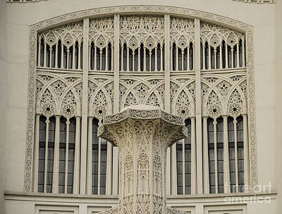Photograph - Baha'i House Of Worship Window Detail Wilmette Illinois by Deborah Smolinske