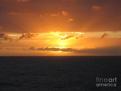 Art Print featuring the photograph Bahamas Ocean Sunset by John Telfer