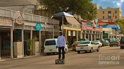 Photograph - Bahamas Policeman by Bob Sample