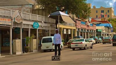 Photograph - Bahamas Policeman by Bob Sample