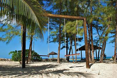 Photograph - Bahamas Swings For Two by Bob Sample