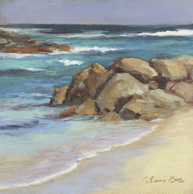 Sandy Beaches Painting - Bahamian Shoreline by Anna Rose Bain