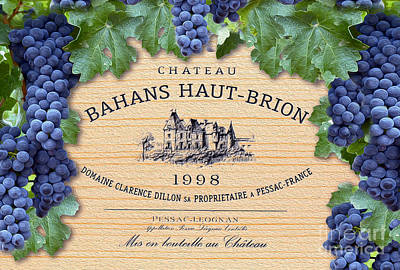 Bahans Haut Brion Art Print by Jon Neidert