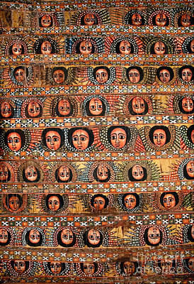 Bahar Bahir Dar Ethiopia Bright Colour Painted Church Ceiling Art Print
