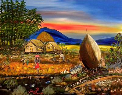 Philippine Art Painting - Bahay Kubo Philippines by Anna Baker