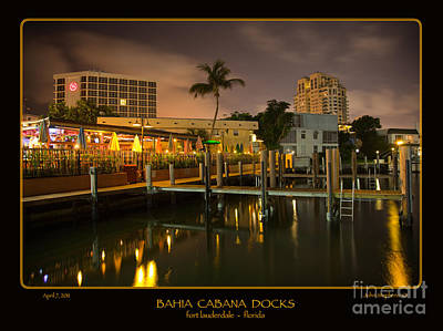 Photograph - Bahia Cabana Docks by John Stephens