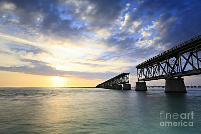 Bahia Honda Old Bridge Art Print by Eyzen M Kim