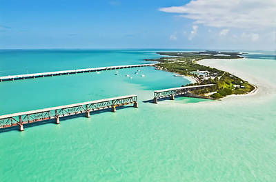 Florida Bridge Photograph - Bahia Honda by Patrick M Lynch