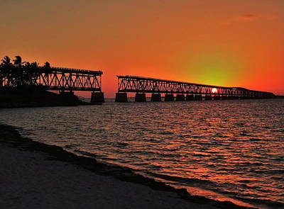 Photograph - Bahia Honda Sunset by Benjamin Yeager