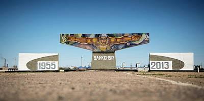 Mural Photograph - Baikonur Spaceflight Mural by Nasa/bill Ingalls