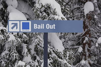 Bail Out Photograph - Bail Out by Chris Selby