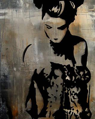 Dog Abstract Art Mixed Media - Bailar Conmigo by Tom Fedro - Fidostudio