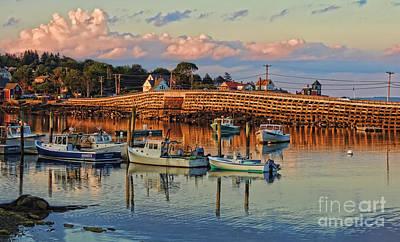Bailey Island Bridge At Sunset Art Print by Patrick Fennell