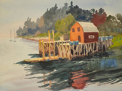 Painting - Bailey Island by Peggy Poppe