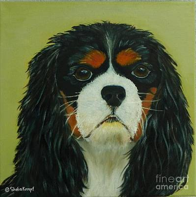 Art Print featuring the painting Cavalier King Charles Spaniel by Shelia Kempf