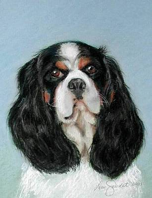 Pastel - Bailey The Cavalier King Charles Spaniel by Lenore Gaudet