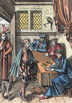 Bailliage, Or Tribunal Of The Kings Art Print by Dutch School