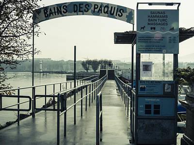 Bains Des Paquis Art Print