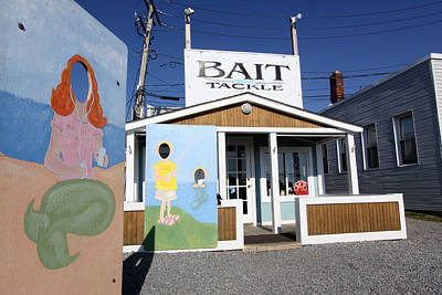 Bait And Tackle Greenport New York Art Print by Bob Savage