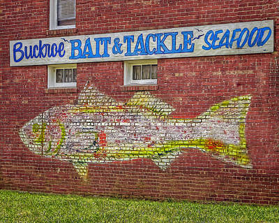 Photograph - Bait Tackle Seafood Shop Detail by Jerry Gammon