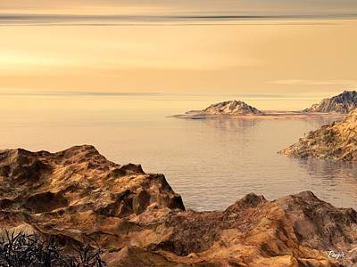 Cabo Digital Art - Baja Bay by John Pangia