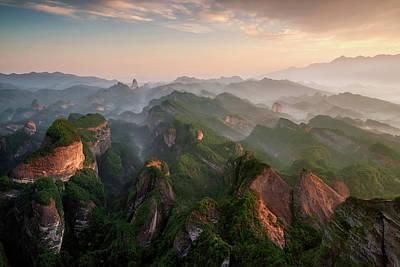 China Wall Art - Photograph - Bajiaozhai Park by Tony Shi