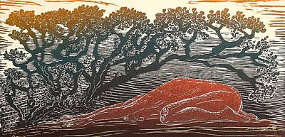 Bajo La Sombra Art Print by Maria Arango Diener