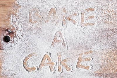 Flour Photograph - Bake A Cake by Tom Gowanlock
