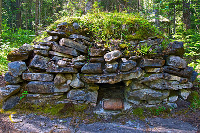 1884 Digital Art - Bake Oven From 1884-5 In  Kicking Horse Campground In Yoho Np-bc by Ruth Hager