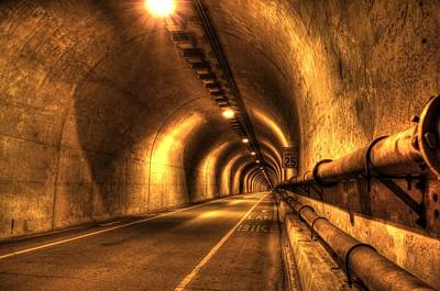 Sausalito Photograph - Baker Barry Tunnel by Mike Ronnebeck