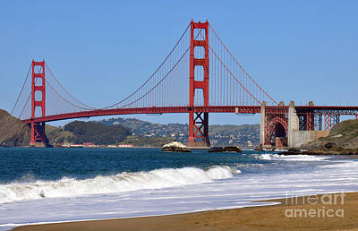 Baker Beach Art Print by Gina Savage