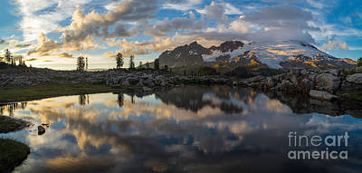Photograph - Baker Cloudscape Dusk Panorama by Mike Reid