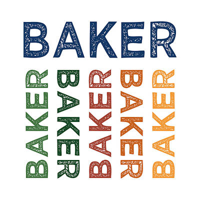 Bakery Digital Art - Baker Cute Colorful by Flo Karp