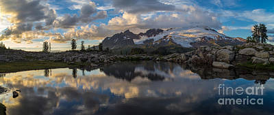 North Cascades Photograph - Baker Dusk Cloudscape by Mike Reid