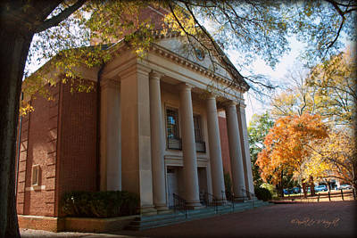 Photograph - Baker-watt Science Complex - Davidson College by Paulette B Wright