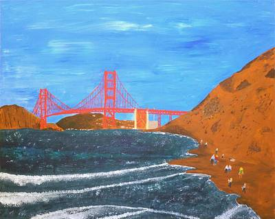 Painting - Bakers Beach San Francisco by Ron Davidson