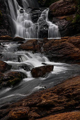 Bakers Fall IIi. Horton Plains National Park. Sri Lanka Print by Jenny Rainbow