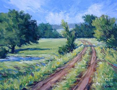 Painting - Bakers Ranch Road by Vickie Fears
